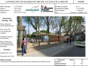 Construction du Kiosque info Bus des tan place de la Breche