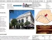 Extension Théâtre du châtelet dans l'ancien Hôtel du palais à Paris