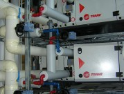 Pose de 3 centrale de traitement d'air dans un local technique